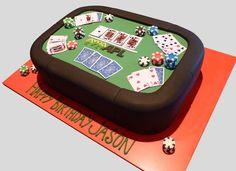 Poker Table Cake | Julie | Flickr Poker Cake, Birthday Cakes For Men, 21st Birthday, Birthday Ideas, Best Sugar Cookie Recipe, Cool Cake Designs, Tapas, Casino Cakes, Cool Wedding Cakes