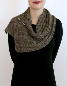 "This is a horrible image!! ""Fear of Commitment"" cowl - free pattern, rated easy"