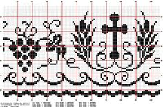 6-a.png (1343×895). Filet crochet, cruces, espigas y uvas.