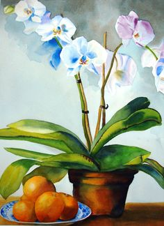 Orchids and Oranges by Susan Stefanski