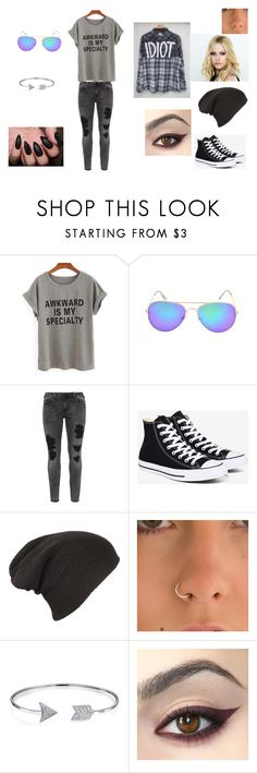 """""""idiot"""" by bring-me-the-sirenz on Polyvore featuring Zizzi, Converse and Bling Jewelry"""