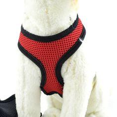 2016 Nylon Arnés Del Perro de Malla Chaleco Arnés Suave Comodidad Ajustable Collar Del Gato Del Perrito Perros Mascotas Pecho Correa Correa XS-XL