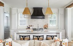 Striking Lakefront - Grabill Cabinets | White Custom Kitchen | Designed by TruKitchens