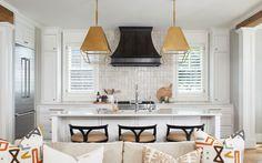 Striking Lakefront - Grabill Cabinets | White Custom Kitchen | Designed by TruKitchens