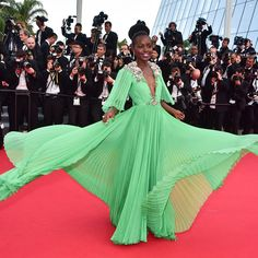 Oscar winning actress #lupitanyongo continued the trend for sheer sophistication on the Cannes red carpet in a dramatic #Gucci gown. Steal her red-carpet style with a hint of skin at #NETAPORTER #TrendingNow