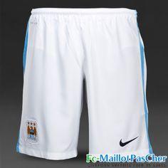 Boutique Nouveau Short foot Manchester City Domicile 15 2016 2017 pas cher