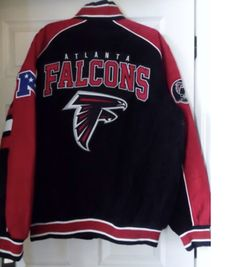 b3290a826 Atlanta FALCONS NFL Officially Licensed Suede Varsity Jacket ~ XXL
