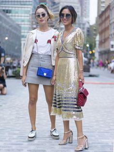 Dani and Aimee Song at New York Fashion Week Spring 2017              Image Source: Tim Regas / @wheresmyd...