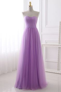 971bece45d67 Beautiful Lavender Tulle Bridesmaid Dress, Simple Bridesmaid Dresses 2019