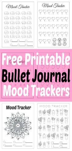 Bullet Journal Mood Tracker Ideas Plus Free Printables - The Clever Side Bullet Journal Health, Bullet Journal Mood Tracker Ideas, Bullet Journal For Beginners, Bullet Journal Printables, Journal Template, Bullet Journal Layout, Bullet Journal Inspiration, Journal Ideas, Bullet Journals