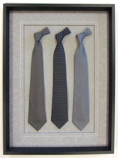 Dad may not wear all the Father's Day ties you gave him - but thanks to #customframing they're #art