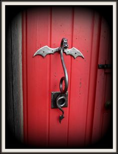 DRAGON DOOR KNOCKER (Large) Sculpture Hand Forged and Signed by Blacksmith  Naz - Original Design - Functional Art - Metal Dragon - Dragons by NazForge on Etsy https://www.etsy.com/listing/95979308/dragon-door-knocker-large-sculpture-hand