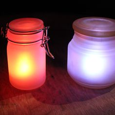 DIY Pottery Barn knockoff glow jars