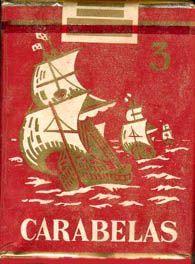 Carteles antiguos de publicidad- Cigarrillos Carabelas