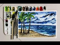 Beach Painting - YouTube