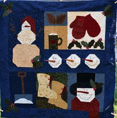 Winter Sampler Pieced and Quilted by Nicole Newman