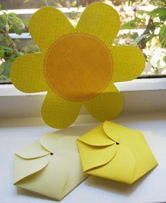 Cartão-Flor com moldes pra mamãe - Pra Gente Miúda