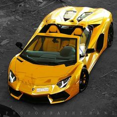 Lamborghini ~ Okay, so it is neither a classic nor a muscle car; but it sure is SEXY!  And yellow is the purrfect color...  ;O