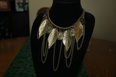 Vintaged Fringed Head/Leaves Necklace #bright #bronze #jewelry #leaves #necklace #pretty #statement Make your summer! www.ceesquared.ca $15.00 Visit Today!  $5 off order over $12 CODE:  Beach