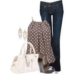 """brown dot"" by fluffof5 on Polyvore"
