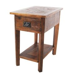 Revive Reclaimed Chairside Table in Natural, Natural Oak