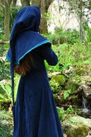 » Blue Cotehardie and Hood Faerie Queen Costuming