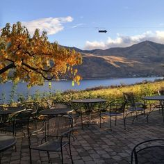 Vin du Lac Winery and Bistro - Lake Chelan.  Bring a jacket, because you'll want to sit outside.