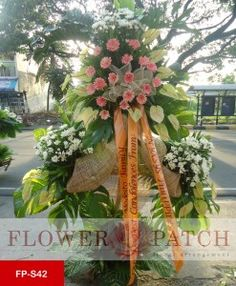 Php6,500 Funeral Stand  Standing Arrangement of Anthuriums, Gerberas and Mums  Free delivery in Pasig, Makati, Mandaluyong, Pasay, Marikina, San Juan, Manila, Pateros, Taguig, Quezon City, Parañaque, Cainta Rizal, Taytay Rizal, Kalookan, Malabon, Navotas, Valenzuela, Fairview, Novaliches, Las Piñas and Muntinlupa  visit our website http://yourflowerpatch.com/ or @ our facebook page/ flowerpatch2012, or Contact us @ (02)225-7580 / 09178917402/ 09253917402 / 09087231337 or viber us…