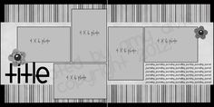 Scrapbooking 4 X 6 Photo Sketch Blog: 12 x 12 - 90 (2V/3H) -- This is the perfect sketch for my next set of photos to scrapbook!