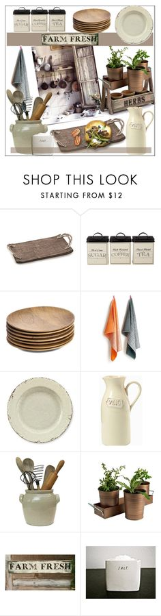 """""""Farm Fresh Kitchen"""" by pat912 ❤ liked on Polyvore featuring interior, interiors, interior design, home, home decor, interior decorating, NKUKU, HAY, Williams-Sonoma and Artland"""