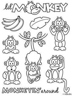 Coloriages de singe | Gratuit Valentines imprimables Pages papillons à colorier 6578 coloriage à imprimer
