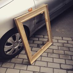 Profiled classic picture frame, wooden  Street bin, 0 CZK
