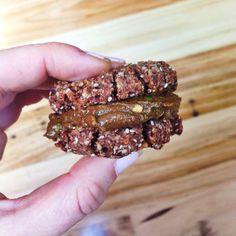 Choc almond chia cookies