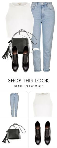"""""""Untitled #5763"""" by laurenmboot ❤ liked on Polyvore featuring Topshop, River Island and H&M"""