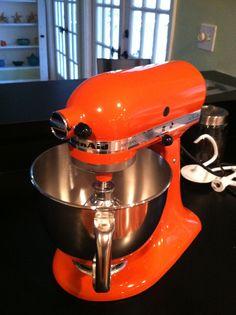 My Orange (persimmon to be exact) Kitchen Aid Mixer