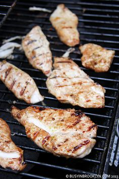 Grilled chicken marinated in soy sauce, lime, garlic and olive oil.