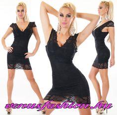 70af5622a5 Mini - Női ruha - Öltözz divatosan - Elképesztő árak - Szállítás 1-2  munkanap. Sexy csipkés fekete mini ruha - Venus fashion női ruha webáruház