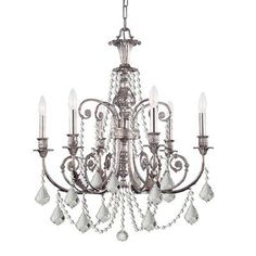 (CLICK IMAGE TWICE FOR UPDATED PRICING AND INFO) #home #ceiling #homeimprovement #homedecor #lighting  #lights #lightandfixture #chandeliers see more chandeliers at http://www.zbrands.com/Chandeliers-C35.aspx -  Crystorama Chandeliers - Regis 6 Light Chandelier