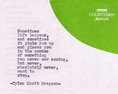 tyler knot gregson   Tyler Knott Gregson – Typewriter Series   Quotes