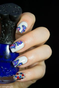 Crystal Decorated Nails