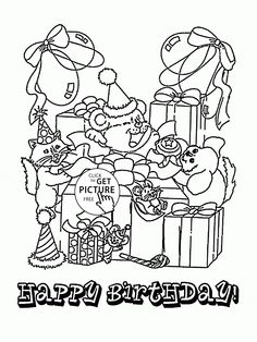 Birthday Fun Card Coloring Page For Kids Holiday Pages Printables Free