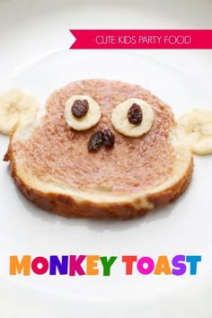 Kid's Party Food Ideas Monkey Toast with #GayLeaFoods