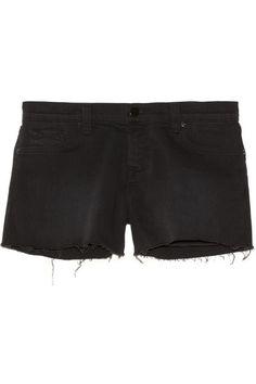 J Brand 1158 low-rise cut-off stretch-denim shorts