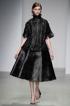 Graham Fan's graduate fashion collection evokes metallic pan scourers.