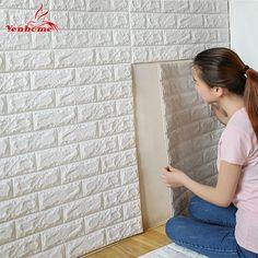 70 cm x 77 cm pe espuma decorativo etiqueta 3d auto adesivo papel de parede quarto diy tijolo sala crianças safty home decor adesivo de parede