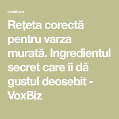 Rețeta corectă pentru varza murată. Ingredientul secret care îi dă gustul deosebit - VoxBiz Pickles, Cooking, Home, Canning, Kitchen, Pickle, Brewing, Cuisine, Cook