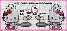 Ponto Cruz e Mais: Hello Kitty Cozinhando e Frutinhas - Ponto Cruz e Mais