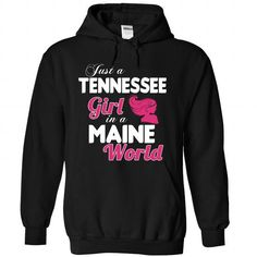 A TENNESSEE-MAINE girl Pink04 - #birthday gift #grandma gift. CHECK PRICE => https://www.sunfrog.com/States/A-TENNESSEE-2DMAINE-girl-Pink04-Black-Hoodie.html?68278