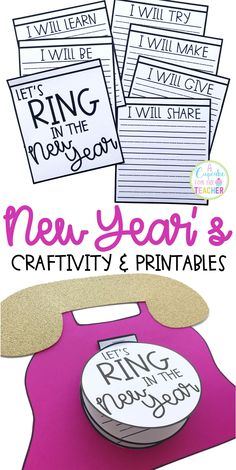 New Year's Craft Happy New Year Ring in the New Year Craftivity