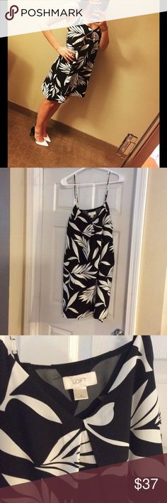 Ann Taylor Loft black & white dress. Stunning! Gorgeous, like new condition. Size Small Loft dress (can definitely fit a medium- Loft tends to run large). Worn once to a wedding. Paired perfectly with a pair of size 9 stilettos in my closest, also worn once! Bundle and save! Ann Taylor Dresses